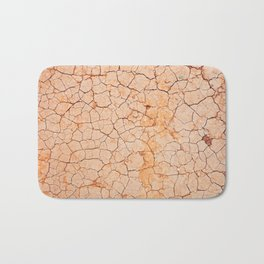 Cracked dry land pattern Bath Mat