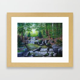 Adirondack Brook Framed Art Print