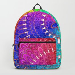 Rainbow Feather Mandala Backpack