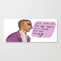 amy hamilton Canvas Prints featuring Hamilton by macaroon22