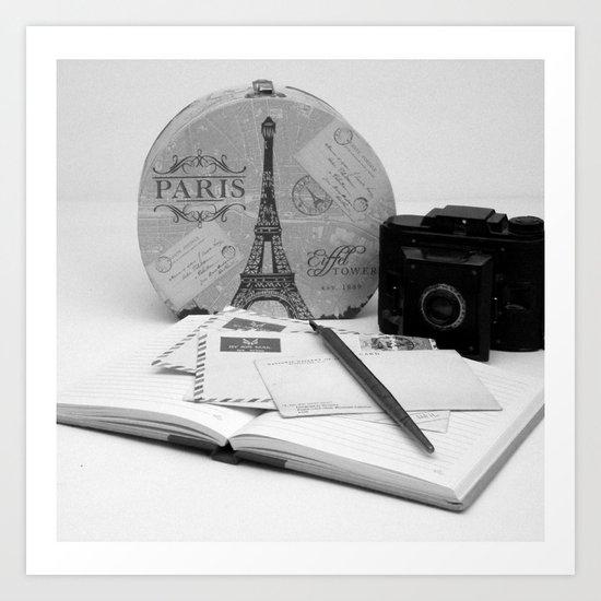Love Letters From Paris 3 Art Print