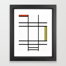 Piet Mondrian - Composition in White, Red, and Yellow Framed Art Print