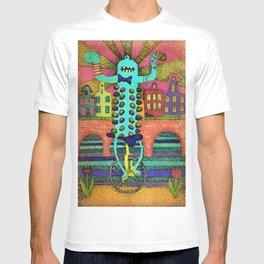 Cute monster in Amsterdam T-shirt