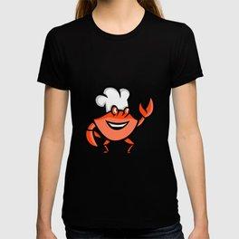 Cajun Crab Chef Mascot T-shirt
