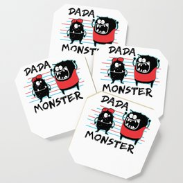 Dada Monster Cute Monster Cartoon for Kids and Dad Light Coaster