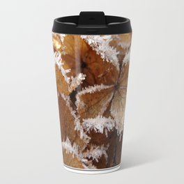 Pee Gee Hydrangea Trimmed with Frost Travel Mug