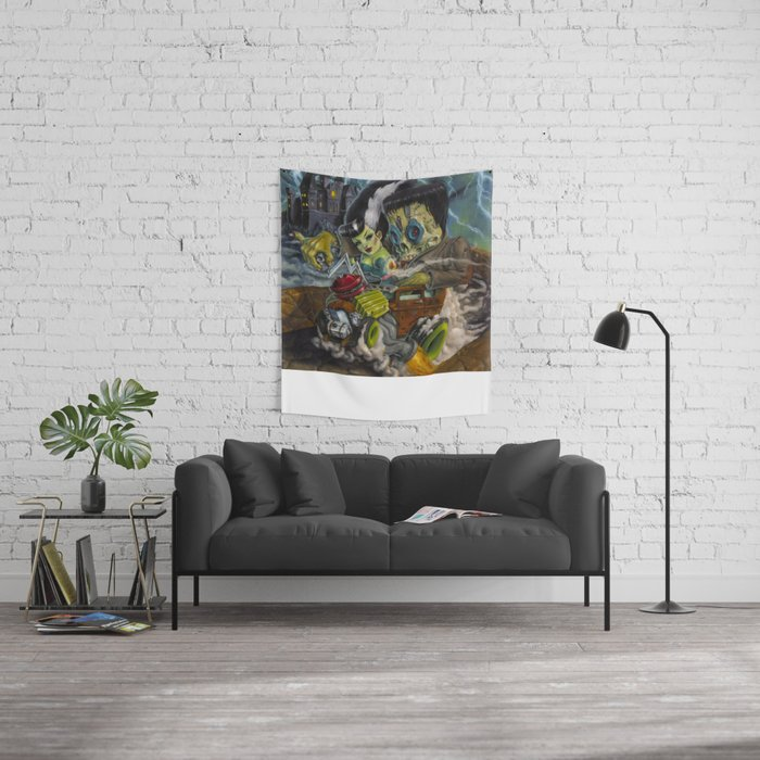 Monster ride. Wall Tapestry