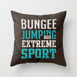 Bungee Jumping Extreme Sport Throw Pillow