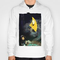 bill cipher Hoodies featuring Gravity Falls- Dipper Pines And Bill Cipher by merrigel