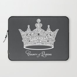 County of Queens | NYC Borough Crown (WHITE) Laptop Sleeve