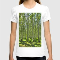 birch T-shirts featuring Birch Grove by Svetlana Korneliuk