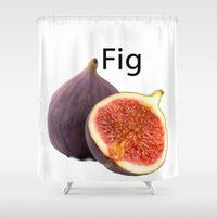 fig Shower Curtains featuring Fig by AuntyReni's Creations
