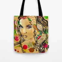 dots Tote Bags featuring Dots by Irmak Akcadogan