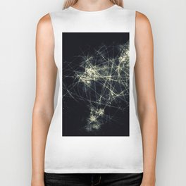 Infinity Particles Abstract Biker Tank