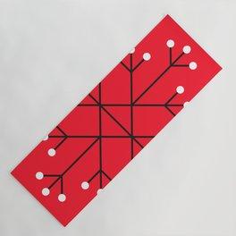 Mod Snowflake Dark Cherry Yoga Mat