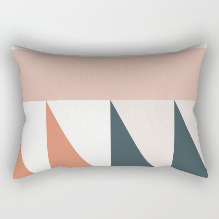 Cirque 04 Abstract Geometric Rectangular Pillow