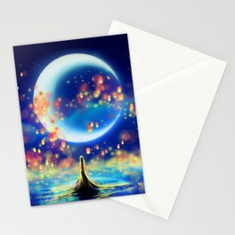 STARRY NIGHT MERMAID Stationery Cards