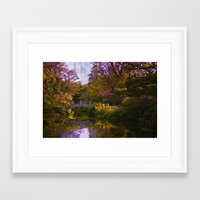 oasis Framed Art Prints featuring oasis by Ruby Del Angel