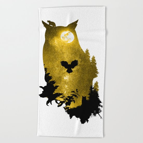 A Melancholy Song Beach Towel