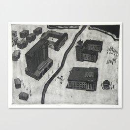 Etching & Aquatint Canvas Print