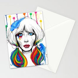 Zooey - Twisted Celebrity Watercolor Stationery Cards