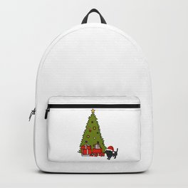 Cute Dog and Christmas Tree Backpack