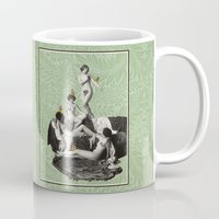 nudes Mugs featuring Of Fiddlebittery & Birds by mentalembellisher