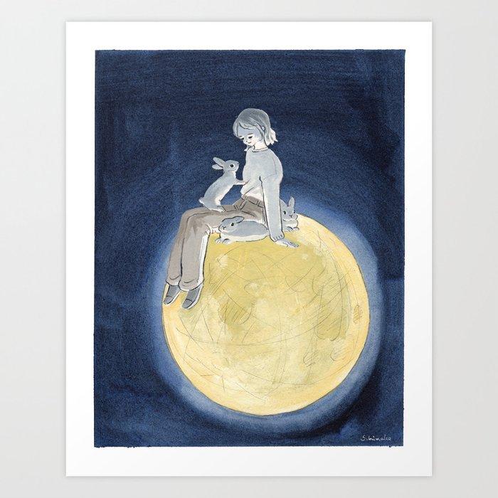 The light of the full moon Art Print