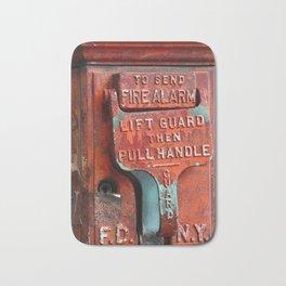 new york city ... fire alarm Bath Mat