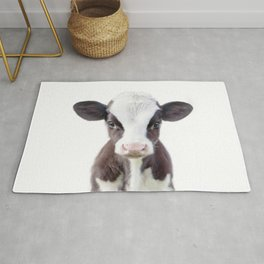 Baby Cow Portrait Rug