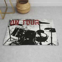 Rock 'n Roll Drums Rug
