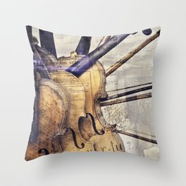 Classic Violins Throw Pillow