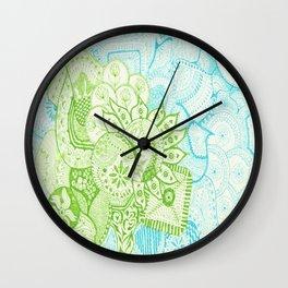 Blue Green Tangle Wall Clock