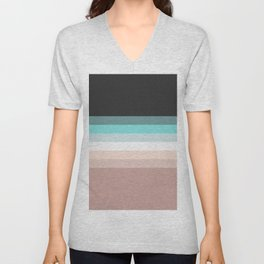 Charcoal, blue and pink pastel blend Unisex V-Neck