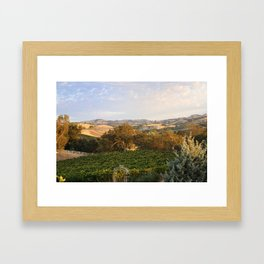 Paso Robles Hills Framed Art Print