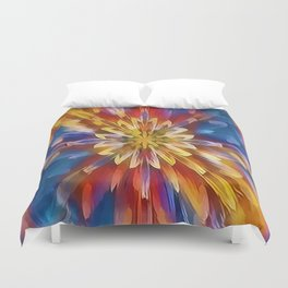 Color Flow Abstract Duvet Cover