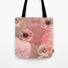 Hellabore line pattern, rose Tote Bag