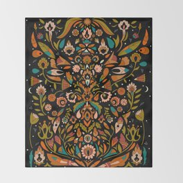 Botanical Print Throw Blanket