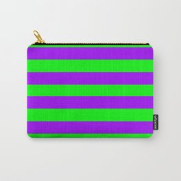 Green and Purple Stripes Carry-All Pouch