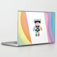 bondage Laptop & iPad Skins featuring Classic Rainbow Bondage Bear Full by YOSH FRIDAY