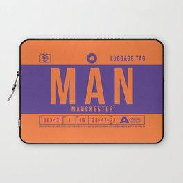 Luggage Tag B - MAN Manchester England UK Laptop Sleeve
