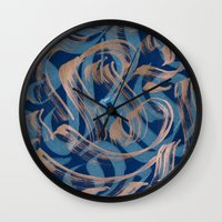 the strokes Wall Clocks featuring Strokes by Roberlan Borges
