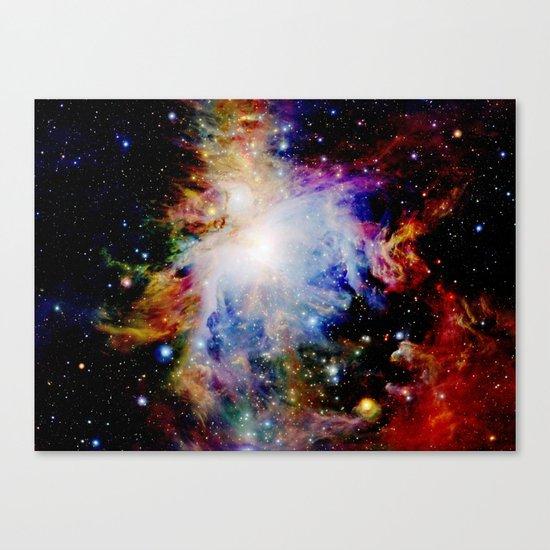 GaLaXY : Orion Nebula Dark & Colorful Canvas Print