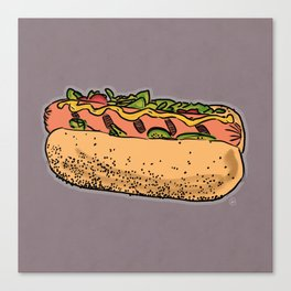 THERE'S ALWAYS TIME FOR A HOT-DOG! - LILAC Canvas Print