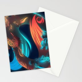 fire and ice Stationery Cards