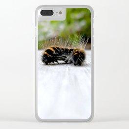 Wannabe Tiger (Fox Moth Caterpillar) Clear iPhone Case