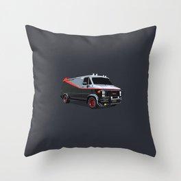 The A Team van illustration Throw Pillow