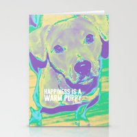kobe Stationery Cards featuring Happiness: Pitbull (Dog)  by PupKat