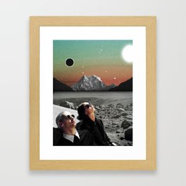 Black Horizon Framed Art Print