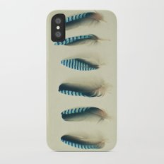 Feathers #1 iPhone X Slim Case